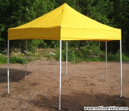 Tapahtumateltta 4 x 4 m keltainen